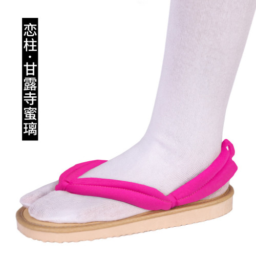 [Kids/Adults] Anime Demon Slayer Cosplay Costume Kanroji Mitsuri Cosplay Accessories Coaplay Shoes Coaplay Clogs
