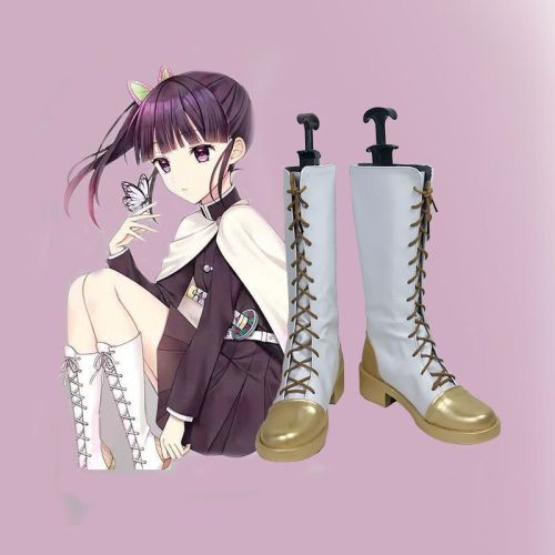 Anime Demon Slayer Cosplay Costume Kanao Tsuyuri Cospaly Shoes Halloween Cosplay Boots
