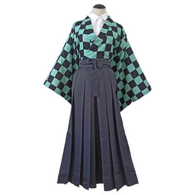Anime Demon Slayer 2021 New Japan Kimono Dress Cosplay Costume Unisex Halloween Cosplay Costume Suit