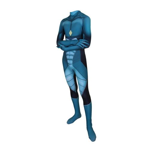 [Kids/Adults]Miraculous Ladybug Costume Zentai Blue Costume Jumpsuit Halloween Costume