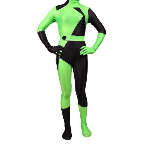 [Kids/Adults]Kim Possible Shego Cosplay Costume Jumpsuit Unisex Halloween Shego Zentai Costume