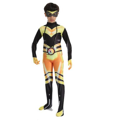 Kids Halloween Costume Miraculous Queen Bee Cosplay Costume Zentai Costume Jumpsuit