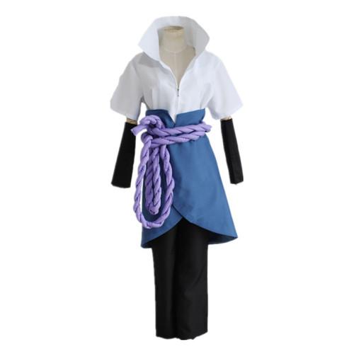Anime Naruto Sasuke Uchiha Kimono Cosplay Costume Set Halloween Costume