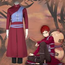 Anime Naruto Gaara Cosplay Costume Red Costume Full Set Halloween Unisex Costume