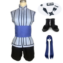 Anime Naruto The Last Hinata Hyuga Cosplay Costume Whole Set With Props Wigs and Shoes