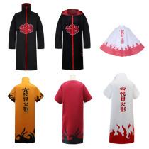 Anime Naruto Hokage Cloaks Halloween Cosplay Costume Cloaks