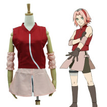 Anime Naruto Haruno Sakura Second Generation Cosplay Costume Set Female Halloween Costume