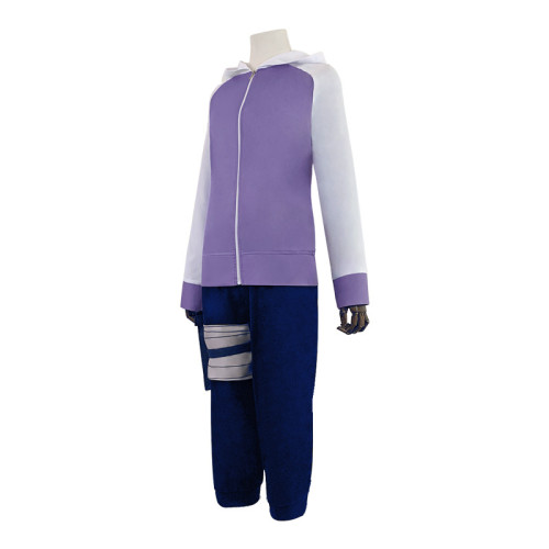 Anime Naruto Hinata Hyuga Cosplay Costume Whole Set With Props Wigs and Shoes