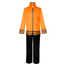 Anime Naruto The Seventh Hokage Cosplay Costume Top and Pants Halloween Costume Outfit