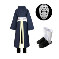 Anime Naruto Obito Uchiha Cosplay Costume With Mask and Shoes Whole Set Halloween Costume