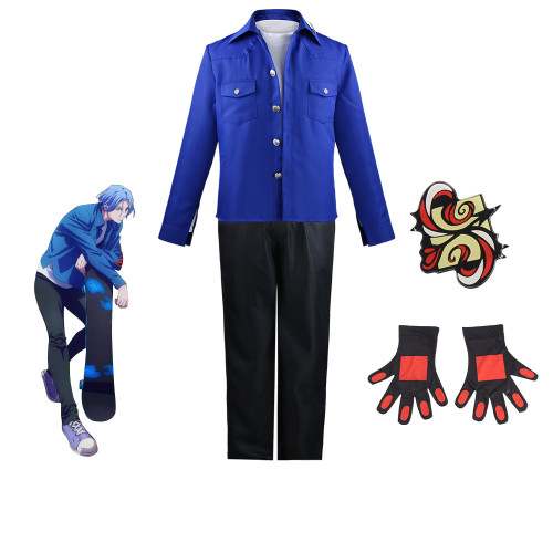 Anime Sk8 the Infinity Langa Hasegawa Cosplay Costume Blue Version Halloween Costume Outfit
