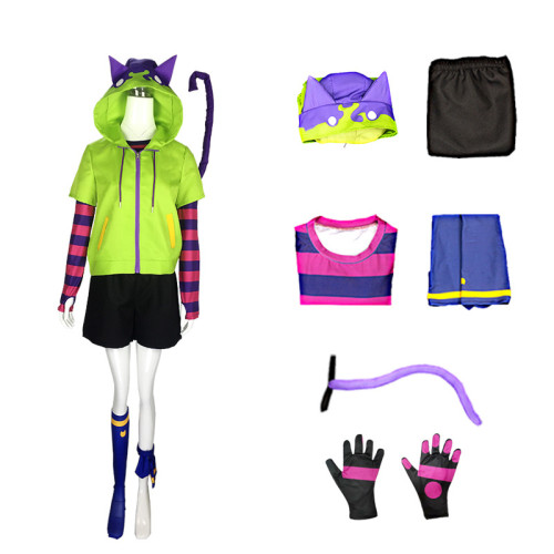 Anime Sk8 the Infinity Miya Chinen Cosplay Costume Whole Set With Wigs and Cosplay Shoes