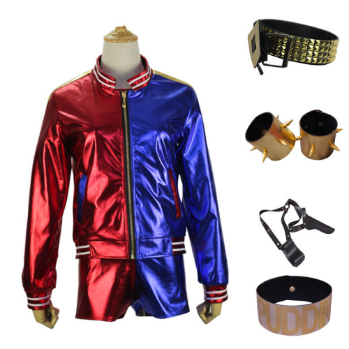 Youth Adults Halloween Costume Harley Quinn Cosplay Costume Full Set With Props