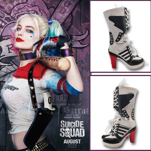 The Suicide Squade Harley Quinn Cosplay Shoes Boots Halloween Cosplay Props