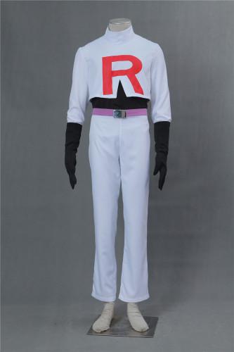 [Kids/Adults] Pokemon Pocket Monster Team Rocket James Kojiro Cosplay Costume