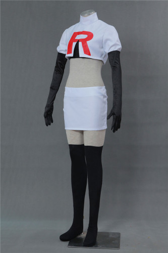 [Kids/Adults] Pokemon Pocket Monster Team Rocket Jessie Cosplay Costume Halloween Costume Set