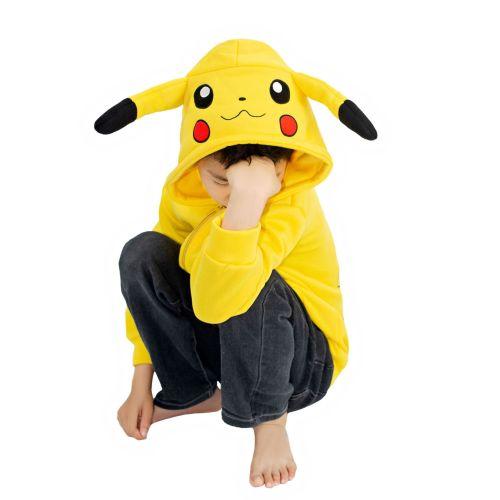 Pokemon Pocket Monster Kids Halloween Cosplay Hoodie Pikachu Costume Hoodie
