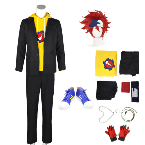 Anime Sk8 the Infinity Reki Kyan Cosplay Costume Whole Set With Wigs Headband and Shoes