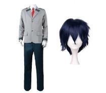 Anime My Hero Academia Tenya Iida Cosplay Costume School Uniform Suit With Wigs