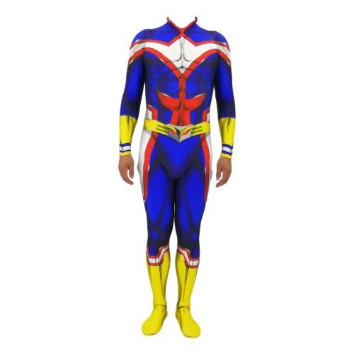 [Kids/Adults] Anime My Hero Academia All Might Jumpsuit Costume Halloween Costume Zentai