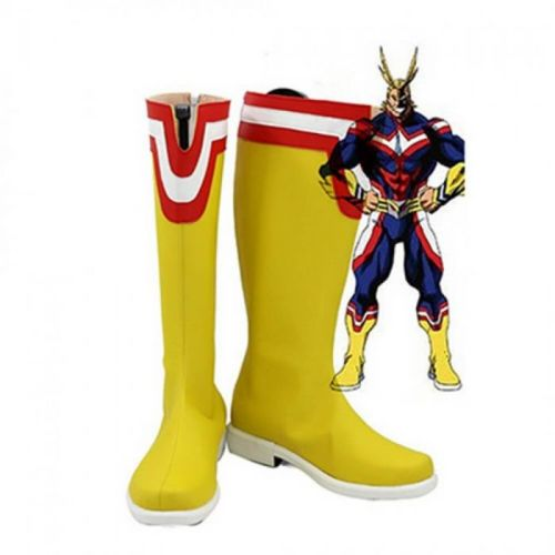 Anime My Hero Academia All Might Cosplay Boots Yellow