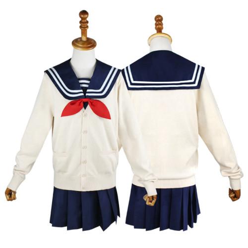 Anime My Hero Academia Cross my body / Himiko Toga Cosplay Costume Full Set