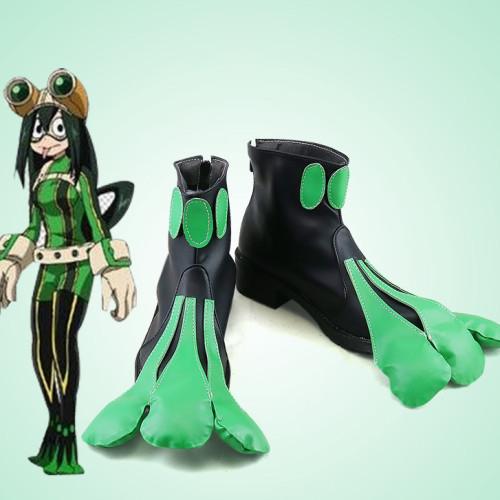 Anime My Hero Academia Asui Tsuyu FROPPY Cosplay Shoes