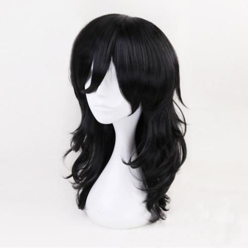 Anime My Hero Academia Aizawa Shouta Cosplay Wigs Black Long Wigs