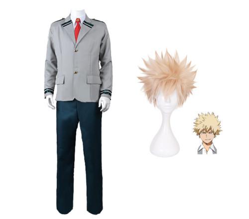 Anime My Hero Academia Bakugou Katsuki School Uniform Cosplay Costume Halloween Costume Suit
