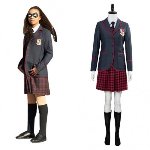 The Umbrella Academy Female School Uniform Costume Halloween Cosplay Costume Outfit