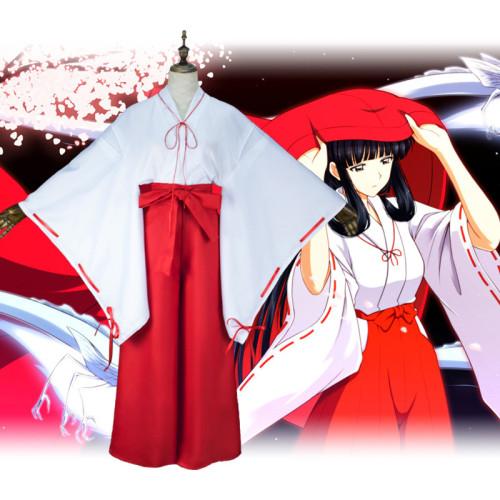 Anime Inuyasha Kagome Higurashi Cosplay Costume Kimono Costume Full Set Red Halloween Cosplay