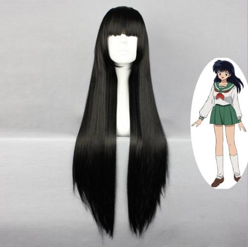 Anime Inuyasha Kagome Higurashi Cosplay Wigs Long Black Wigs