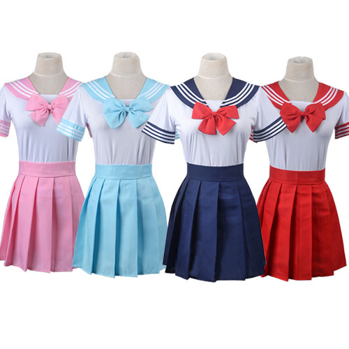 Anime Sailor Moon All Characters Sailor Suit Costume Halloween Cosplay Outfit