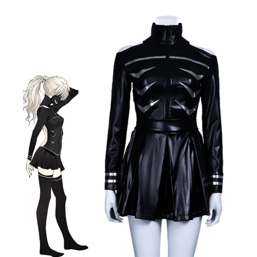 Anime Tokyo Ghoul Ken Kaneki Female Version Cosplay Costume Dress PU Leather Carnival Halloween Party Cosplay Outfit
