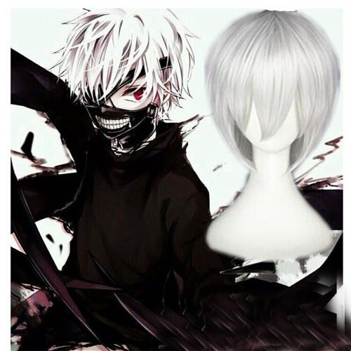 Anime Tokyo Ghoul Ken Kaneki Cosplay Wigs Cosplay Accessories Hair Silver White Wigs