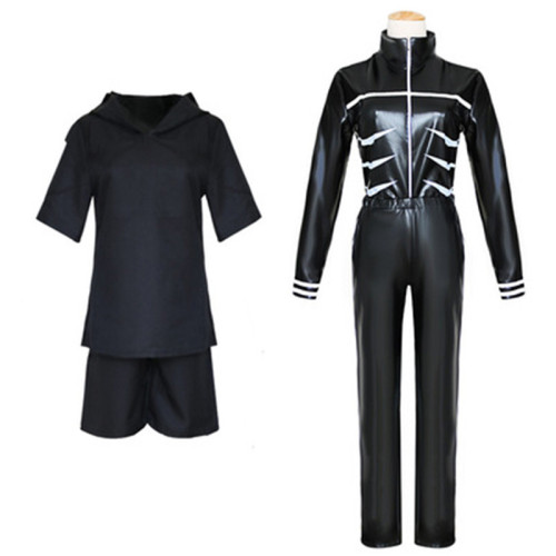 Anime Tokyo Ghoul Ken Kaneki Cosplay Costume Halloween PU Leather Suit Carnival Halloween Party Cosplay Outfit