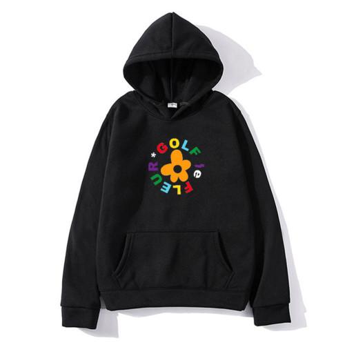 Tyler The Creator Golf Flower Print Hoodie Unisex Casual Trendy Fleece Sweatshirt Long Sleeve Streetwear