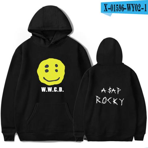 Asap Rocky Smile Face Hoodie Men Women Hip Hop Streetwear Casual Vintage Sweatshirt