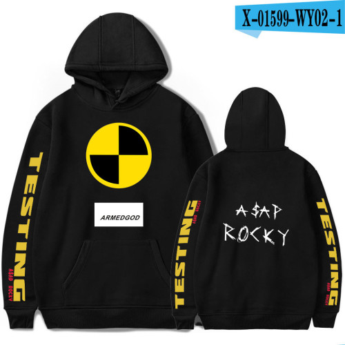 Asap Rocky Fashion Unisex Fleece Hoodie Long Sleeve Hip Hop Pullovers Sweatshirt