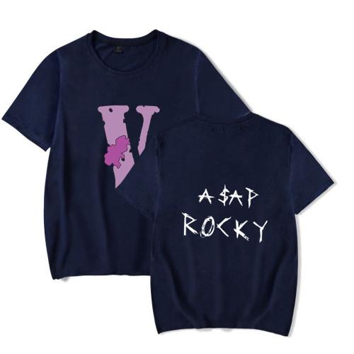 Asap Rocky T-shirt Short Sleeve Casual Tee Men Women Hip Hop Streetwear