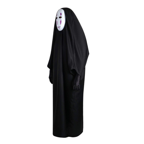 [Kids/ Adults]Anime Movie Spirited Away No-Face Kaonashi Cosplay Costume With Mask and Gloves Halloween Costume Set