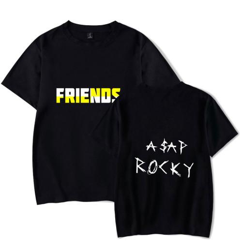 Asap Rocky FRIENDS Tee Short Sleeve Casual T-shirt Street Style Tee For Men Women