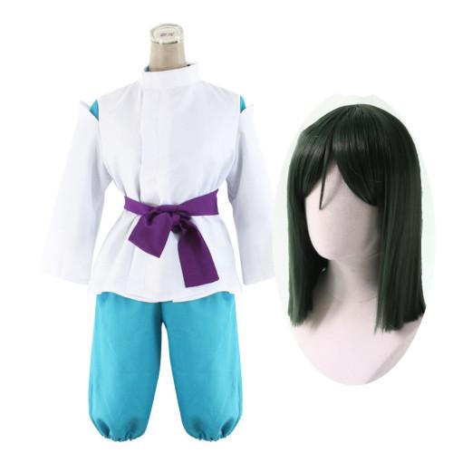 [Kids/ Adults] Anime Movie Spirited Away Nigihayami Kohakunushi Haku Cosplay Costume Whole Set With Wigs