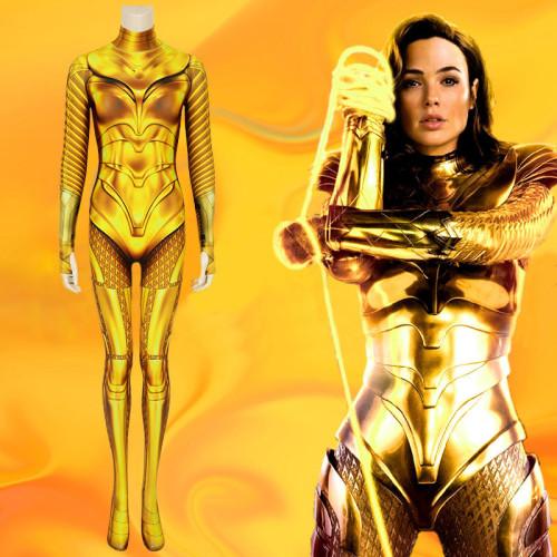 Wonder Women 1984 Cosplay Costume Zentai Golden Costume Jumpsuit
