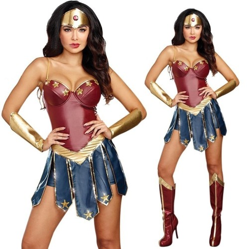 Wonder Women Cosplay Costume Girls Women Halloween Cosplay Dress Outfit