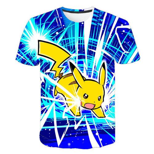 Pokemon Popular Round Neck Causual T-shirt Short Sleeves Unisex T-shirt