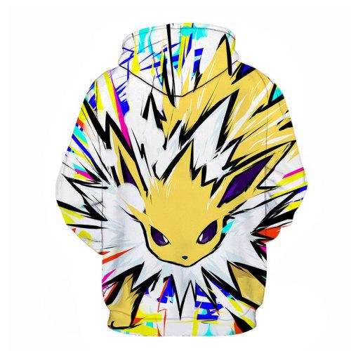 2021 Pokemon Fashion Long Sleeves Unisex Loose Causual Comfy Hoodie