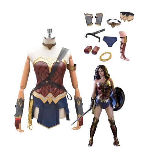 Wonder Women Halloween Cosplay Suit Dress Full Set Women Girls Cosplay Costume