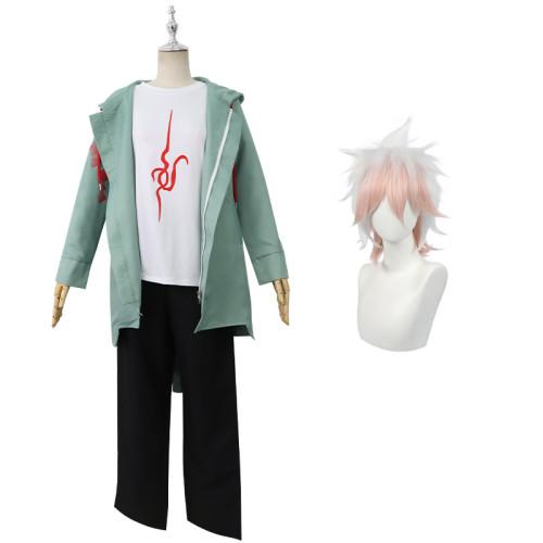 Danganronpa 2: Goodbye Despair Nagito Komaeda Cosplay Costume Whole Set With Wigs Halloween Costume
