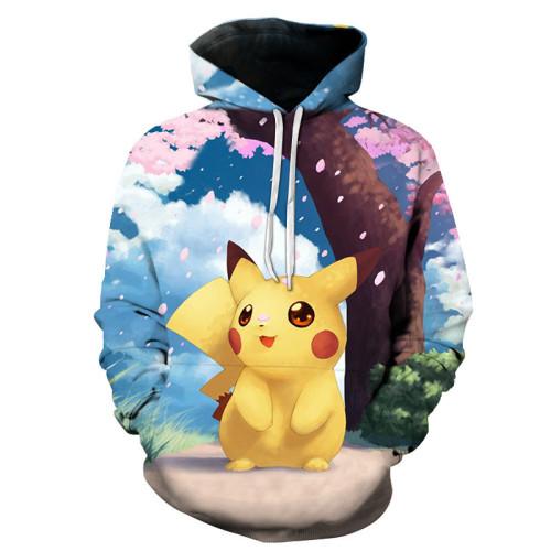 Pokemon  Fall and Winter Popular Hoodie Long Sleeves Unisex Loose Hoodie